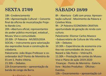 Museologia Social e Economia Criativa são temas do III Seminário realizado pelo Museu Vivo